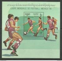 Kampuchea (Cambodia) - 1986 Soccer World Cup S/sheet  MNH** - Kampuchea
