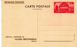 Entier Postal  400-CP2 N** Mémorial Australien Villers Bretonneux - Standard Postcards & Stamped On Demand (before 1995)