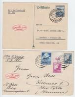 Zeppelin LZ 129 , Karte Ohne Text Und Briefvorderseite - Briefe U. Dokumente