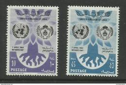 Libya - 1960 World Refugee Year Set Of 2 MNH** - Libya