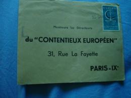 Saint Lo Gare Griffe Marque Postale Lineaire Obliteration Sur Lettre - Marcophilie (Lettres)