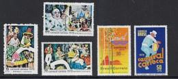 BRASILE - 1970 CARNAVAL CARIOCA - 5 VAL. NUOVI  MNH** (YVERT 918/9225- MICHEL 1243/1245+1247/1248) - Carnevale