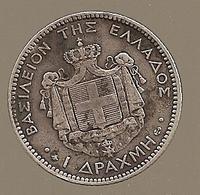 Grèce. Drachma 1868 A - Argent - 480.000 Ex (282) - Grèce