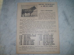 Arenes De Beaucaire Course Camarguaise Programme Saison Taurine 1937 Manades Reynaud,marquis Baroncelli,aubanel Granon. - Posters