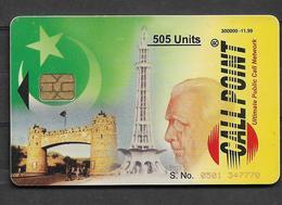 USED CHIP PHONECARD PAKISTAN  505 UNITS - Pakistan