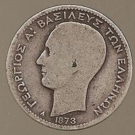 Grèce. Drachma 1873 A - Argent - 1.802.000 Ex (283) - Grèce