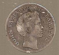 Grèce. 1/2 Drachma 1834 A Percé - Argent (280) - Grèce