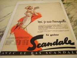 ANCIENNE PUBLICITE MOI JE SUIS TRANQUILLE SCANDALE  1957 - Habits & Linge D'époque