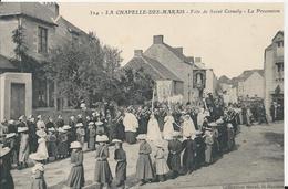 Carte Postale Ancienne De La Chapelle Des Marais  Fete De Saint Cornely - France