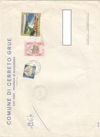 12422-BUSTONE DA CERRETO GRUE(AL) AFFRANCATO CON COMMEMORATIVI PER ALESSANDRIA-1981 - 6. 1946-.. Repubblica