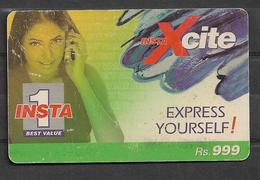 USED PHONECARD PAKISTAN INSTA 1 RS 999 - Pakistan