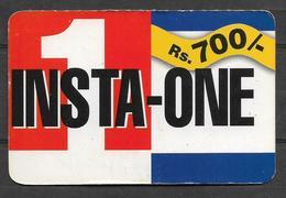 USED PHONECARD PAKISTAN INSTA - ONE  RS 700 - Pakistan