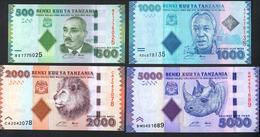 Tanzania 500 1000 2000 5000 Shillings 2011 UNC - Tanzania