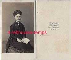 CDV Second Empire-femme Avec Album-mode-très Bon état-photo Durand à Lyon - Old (before 1900)