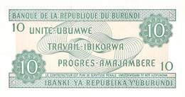 10 Burundi-Franc UNC 1997 - Burundi