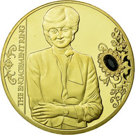 United Kingdom , Médaille, La Princesse Diana, The Engagement Ring, FDC - Royaume-Uni