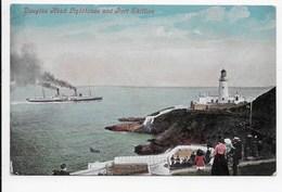 Douglas Head Lighthouse And Port Skillion - Valentine - Isle Of Man
