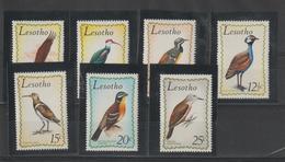 Lesotho 1971 Oiseaux Série 207-13 7 Val * Charnière - Lesotho (1966-...)