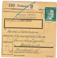 Carte Colis ETTELBRUCK  Nach Niederwiltz. - 1940-1944 Occupation Allemande