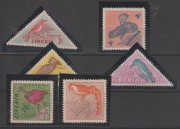 Libéria 1954 Oiseaux Série 318-23 6 Val * Charnière - Liberia