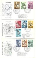 1962 - San Marino 597/606 Sport Invernali     8/26 - Inverno