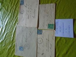 Département AUDE - LOT De 4 LETTRES Au Type SAGE + 4 Photos  ++ Voir  Descriptif - 1849-1876: Classic Period