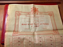 S.A.  THÉATRE - BELLECOUR  ------- Action  De  500 Frs - Cinéma & Théatre