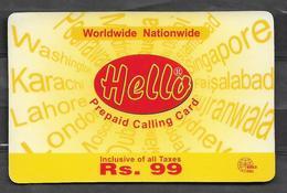 USED PHONECARD PAKISTAN RS 99 - Pakistan