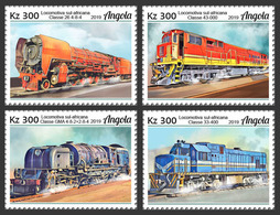 Angola.  2019 African Trains. (0101a)  OFFICIAL ISSUE - Angola