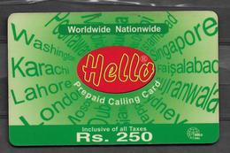 USED PHONECARD PAKISTAN RS 250 - Pakistan