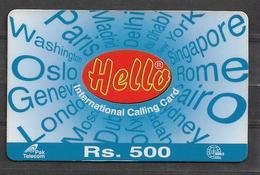 USED PHONECARD PAKISTAN RS 500 - Pakistan