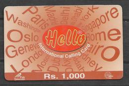 USED PHONECARD PAKISTAN RS 1000 - Pakistan