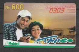 USED PHONECARD PAKISTAN TANGO RS 600 - Pakistan