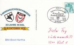 PP 100/80 3. Minensuchgeschwader - 20 Jahre Kiel, Kiel 1 - Privé Postkaarten - Gebruikt