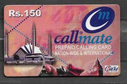 USED PHONECARD PAKISTAN CALLMATE RS 150 - Pakistan