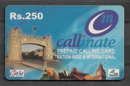 USED PHONECARD PAKISTAN CALLMATE RS 250 - Pakistan