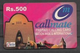 USED PHONECARD PAKISTAN CALLMATE RS 500 - Pakistan