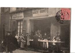 """CHARTRES. -  """"AU PORT, Ancienne Maison CHARPENTIER.  DE DIEPPE.  AUBERT-BOUVET, Poissonnier"""". SCANS Recto-verso - Chartres"""