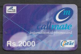 USED PHONECARD PAKISTAN CALLMATE RS 2000 - Pakistan