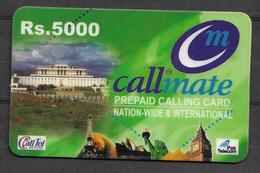 USED PHONECARD PAKISTAN CALLMATE RS 5000 - Pakistan