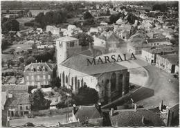 CPSM  Moncoutant  L'église  Et La Place - Moncoutant