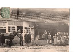 6. - SAINT-GEORGES-SUR-EURE  - La Laiterie. Très Belle CPA Animée.. Collection Manceau. Voir SCANS Recto-verso - Other Municipalities