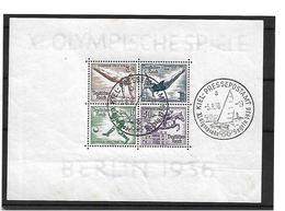 DSP130 / Drittes Reich - Olympiade 1936, Block Mit Stempel Pressepostamt Kiel, Segelregatta - Blocks & Kleinbögen
