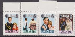Tonga 1981 SG # 785-8 Royal Wedding MNH Set - Case Reali