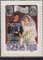 Tonga 1981 Overprint Royal Wedding MNH Set - Case Reali