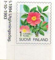 PIA - FINL  - 1994 : Piante E Fiori Delle Provincie Finlandesi - Rosa Accularis - Autoadesivo - (Yv 1216) - Finlandia