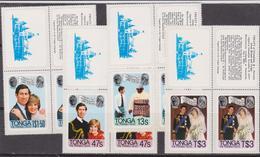 Tonga 1981 Royal Wedding MNH Set - Case Reali