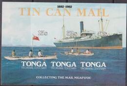 Tonga 1981 - Tin Can Mail  Ships Navi Set MNH - Trasporti