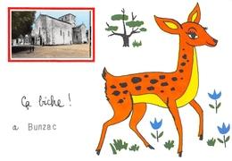 Ca Biche à BUNZAC Par La Rochefoucauld - Petite Photo Eglise - France