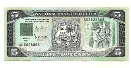 Liberia - 5 Dollars 1991 - Liberia